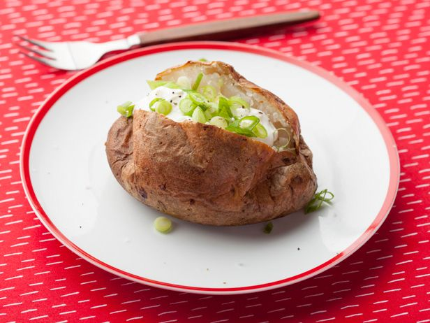 The Baked Potato Recipe : Alton Brown : Food Network - FoodNetwork.com. Wow. This is not how I made them when I was little. This is soooooo much better. YUM
