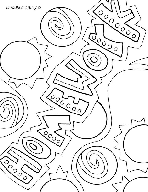 school homework coloring pages | 56 best images about Title Pages on Pinterest | First day ...