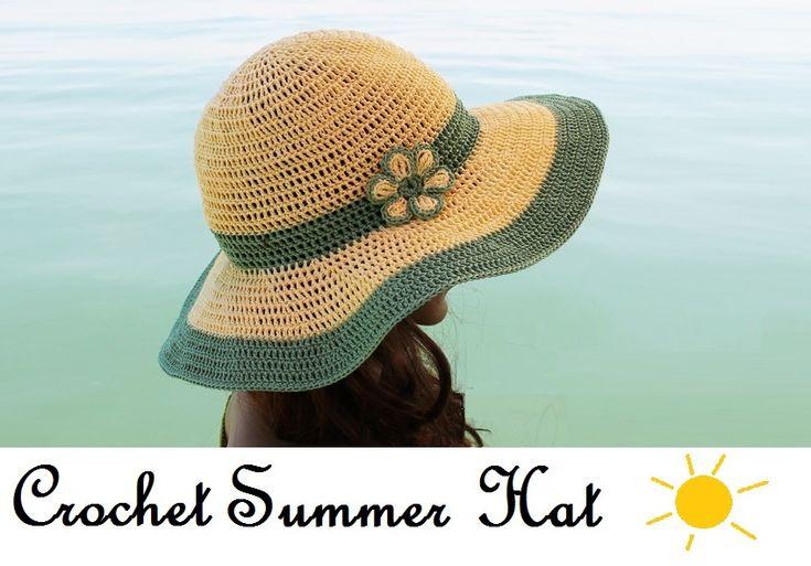 Crochet Summer Hat all in one – Pattern, Video, Chart – Knit & Crochet – Accesories
