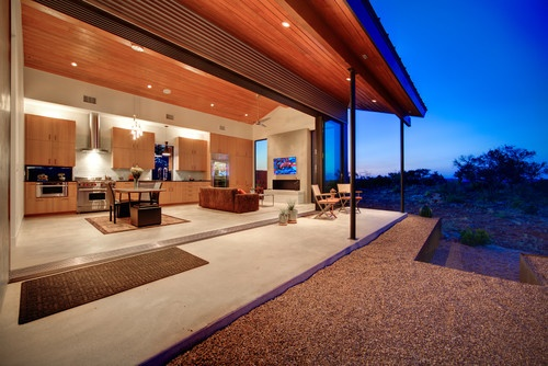 Bunk House Open Door - contemporary - living room - austin - Jon Luce Builder