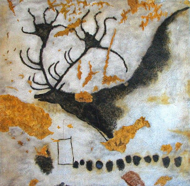 Cave painting from the Lascaux caves. While not yet proven, two different experts concluded that some paintings by old stone age people in the cave at Lascaux have a number of astronomical aspects. The evidence is so strong the cave has been declared a UNESCO heritage site for astronomy.