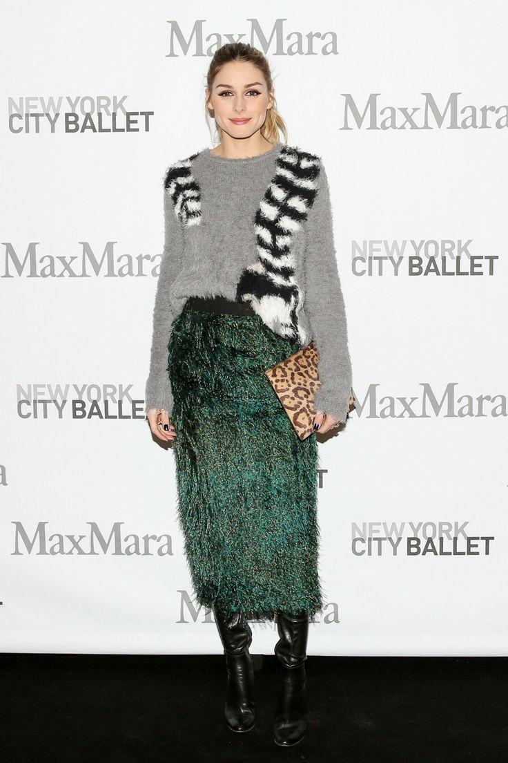 Olivia Palermo in MaxMara Spring 2017 skirt