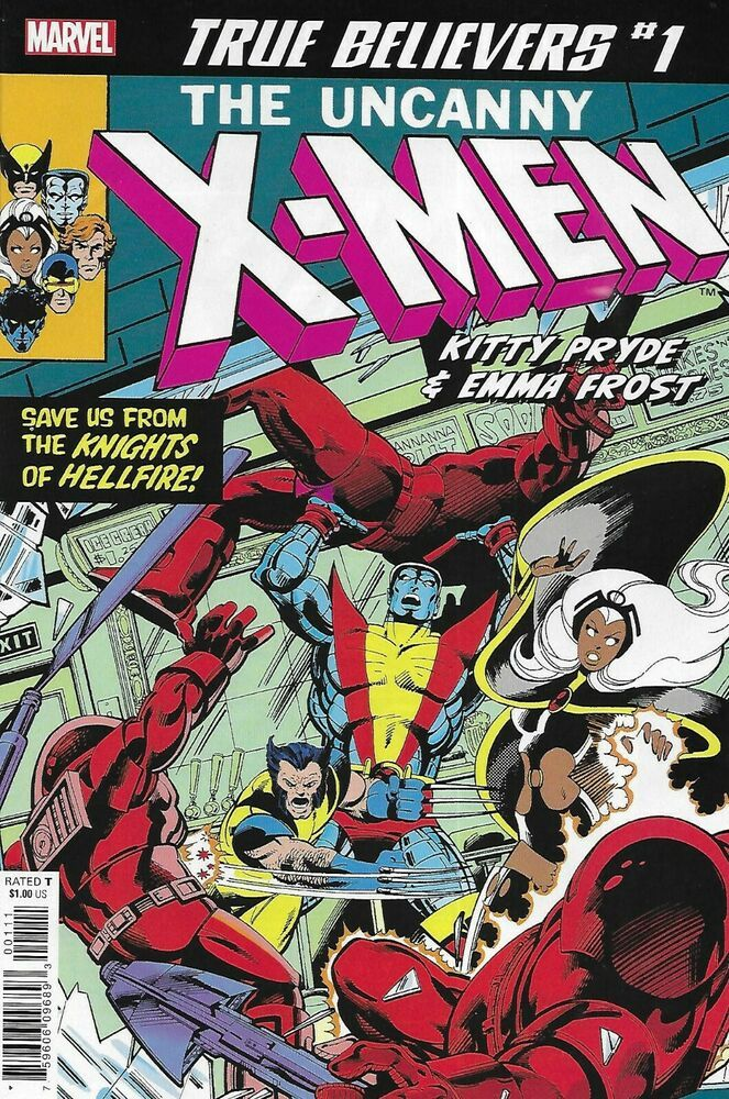 Uncanny X Men Comic 1 Kitty Pryde And Emma Frost Classic Reprint Claremont Byrne Kitty Pryde Marvel Comic Books Marvel Comics Covers