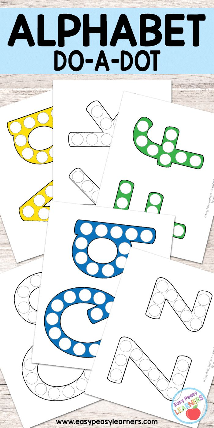 Alphabet - Do a Dot Printables