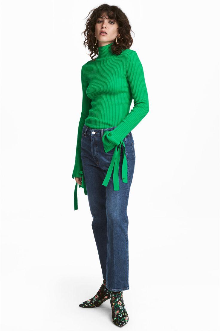 Straight Regular Cropped Jeans - Bleu denim foncé - FEMME | H&M FR 1