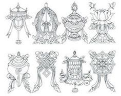 Meaning of The 8 Auspicious Symbols of Buddha | eBay