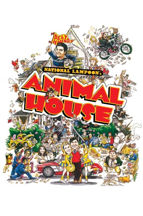 National Lampoon's Animal House Movie Poster - John Belushi, Tim Matheson, Donald Sutherland  #MoviePoster, #Comedy, #JohnLandis, #DonaldSutherland, #JohnBelushi, #TimMatheson