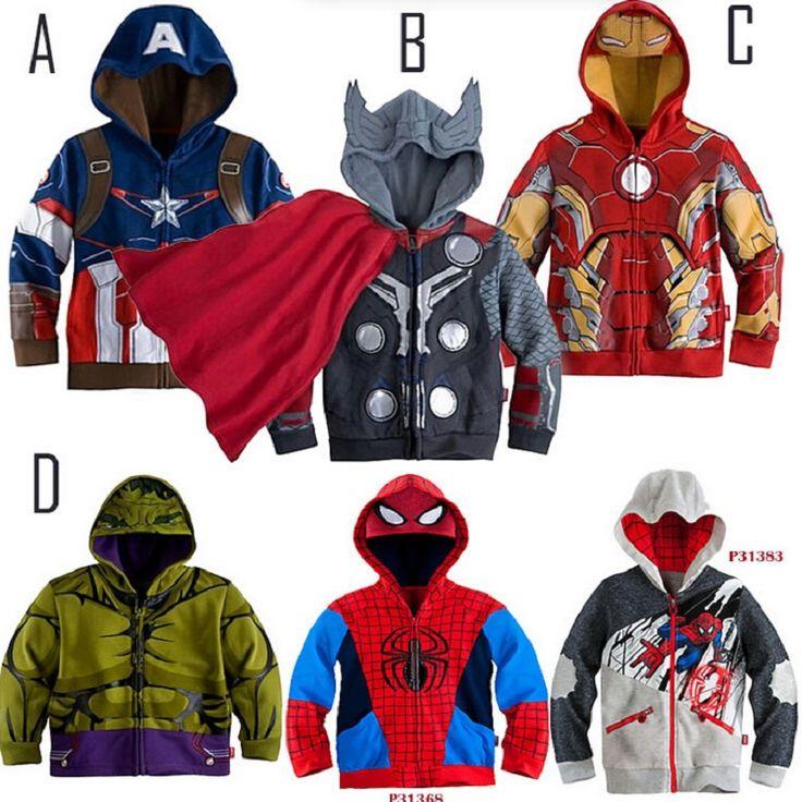 New year STAR WARS Avengers Iron Man boys Coat Hoodies Long Sleeve Boy's jacket Sweatshirt Kids Outerwear
