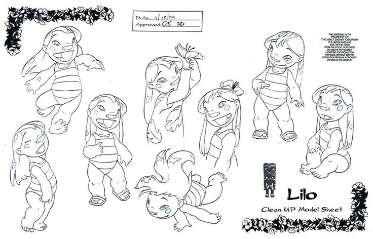 Clean-Up Modelsheet1(Lilo and Stitch) by ~dagracey