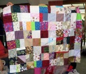 Patchwork blanket for Orphans