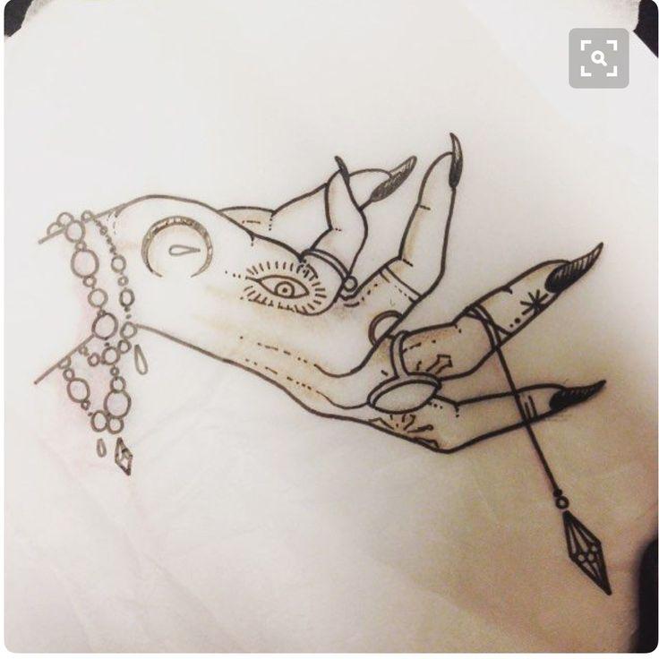 Resultado de imagen para witch hand tattoo