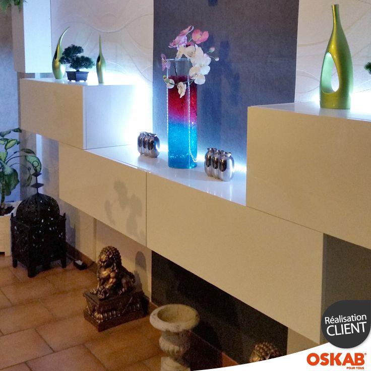 Mickaël B. a choisi Oskab ! Découvrez son meuble de rangement design blanc brillant pour une pièce zen STECIA et retrouvez plus d'inspiration et de photos de l'agencement de ses meubles ici : www.oskab.com  Pour vous aider dans l'aménagement de votre pièce, télécharger gratuitement le logiciel cuisine 3D gratuit Oskab. http://www.oskab.com/content/113-telecharger-logiciel-cuisine-3d-gratuit