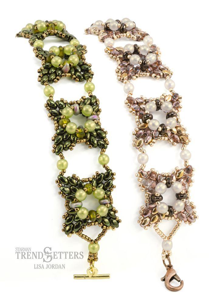 New MiniDuo and SuperDuo pattern from Lisa Jordan – Rose Windows Bracelet