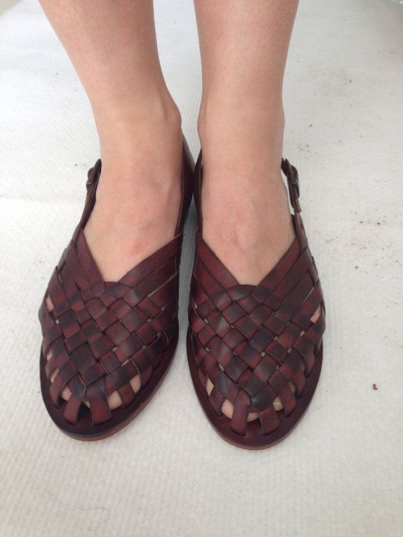 AEGINA Woven Leather Buckle Sling Back Mule by BODRUMSANDALS, $140.00