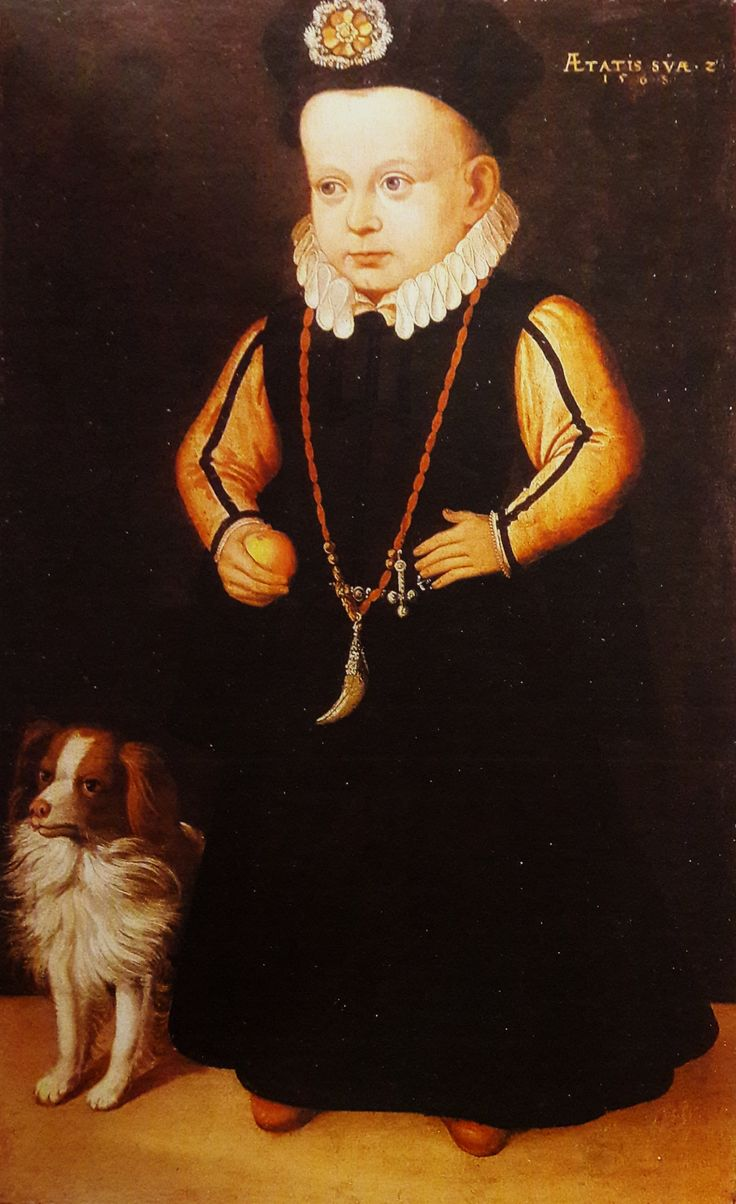 Portrait of Crown Prince Sigismund Vasa by Johan Baptista van Uther, 1568 (PD-art/old), Zamek Królewski na Wawelu; most probably a gift to Anna Jagiellon from her sister Catherine Jagiellon, Sigismund's mother