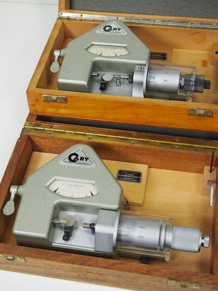 2pc/Lot_Cary Dial Comparator Inch Dial Bench Micrometer Watchmakers Uhrmacher #Cary