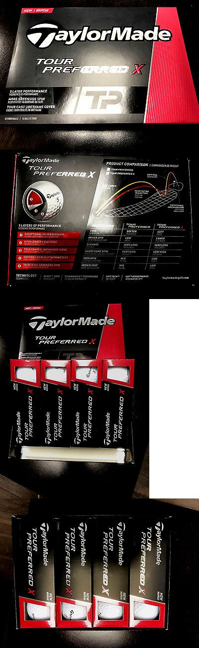 Golf Balls 18924: New! Taylormade Tour Preferred X Tp Golf Balls -12-Pack 2016 White $33.99!!! BUY IT NOW ONLY: $33.99