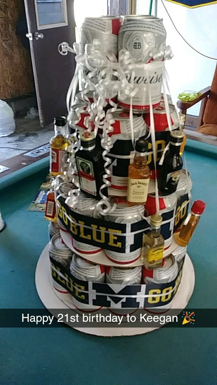Beer cake i made for my boyfriend on his 21st happy 21st