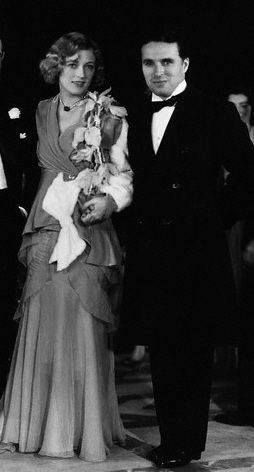 Marion Davies with Charlie Chaplin