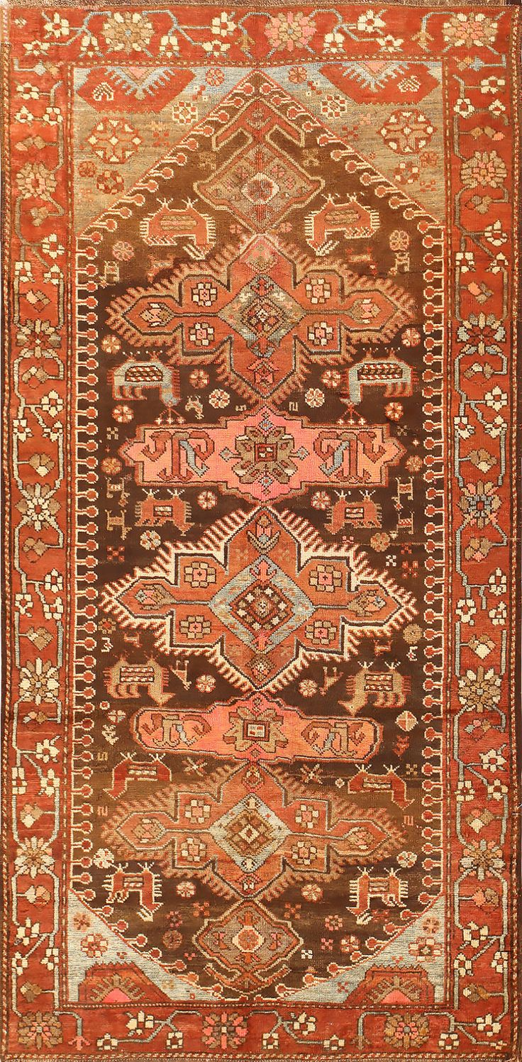 Small Antique Tribal Caucasian Kazak Rug 50582