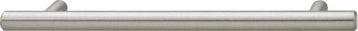 Cosmopolitan Bar Pull steel brushed nickel center to center 128mm