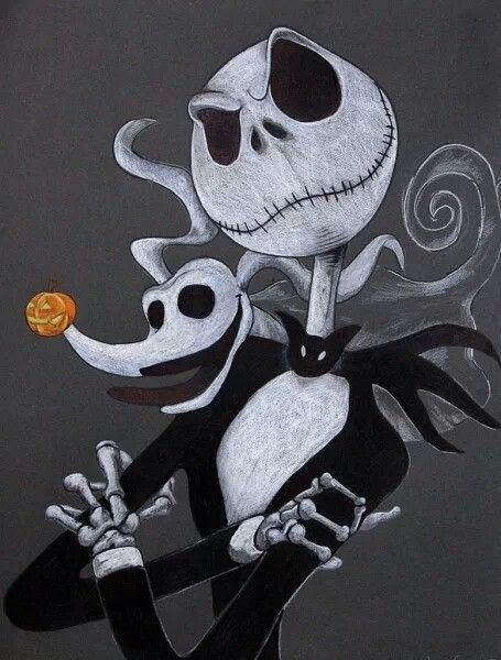 Jack the Pumpkin King and his faithful dog Zero ...  The Nightmare Before Christmas Jack Makeup