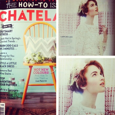 One of our floral crowns featured in an editorial on the new spring trends in the May Chatelaine issue!