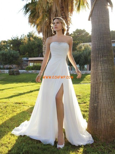 Glanz & Glamour Chiffon Reißverschluss Brautkleider 2014