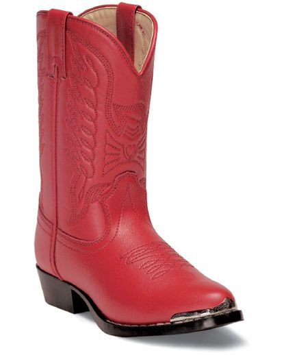 Youth Red 'n Chrome Boots