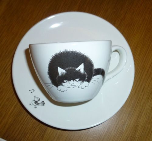 Albert Dubout Cats Cup and saucer - Tweety Bird