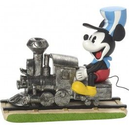 "Disney Mickey Mouse Figurine ""On The Right Track"", Resin"