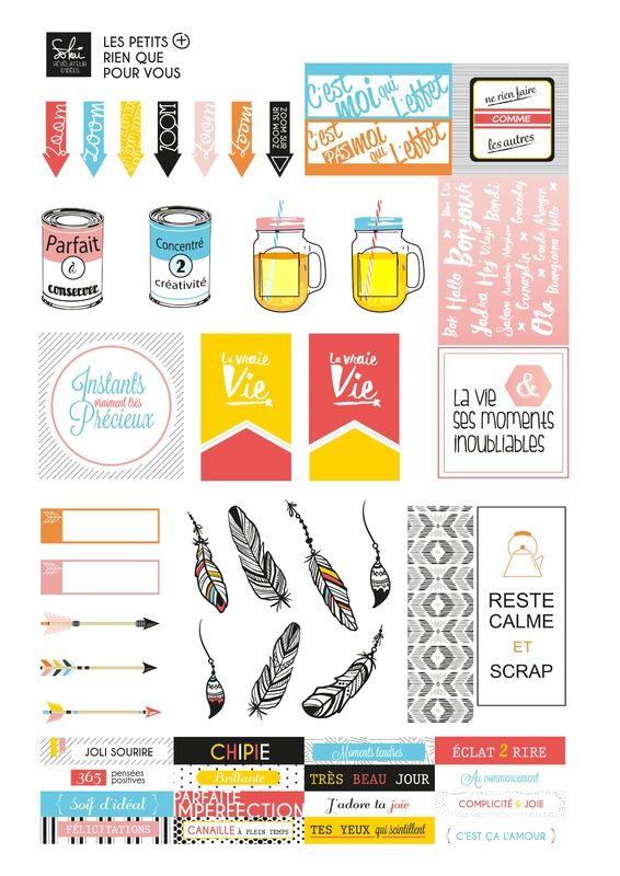 Les Etiquettes Gratuites // Sokai - Scrapbooking - Loisirs Créatifs