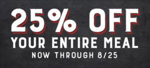 Logan's Roadhouse: 25% off Entire Meal