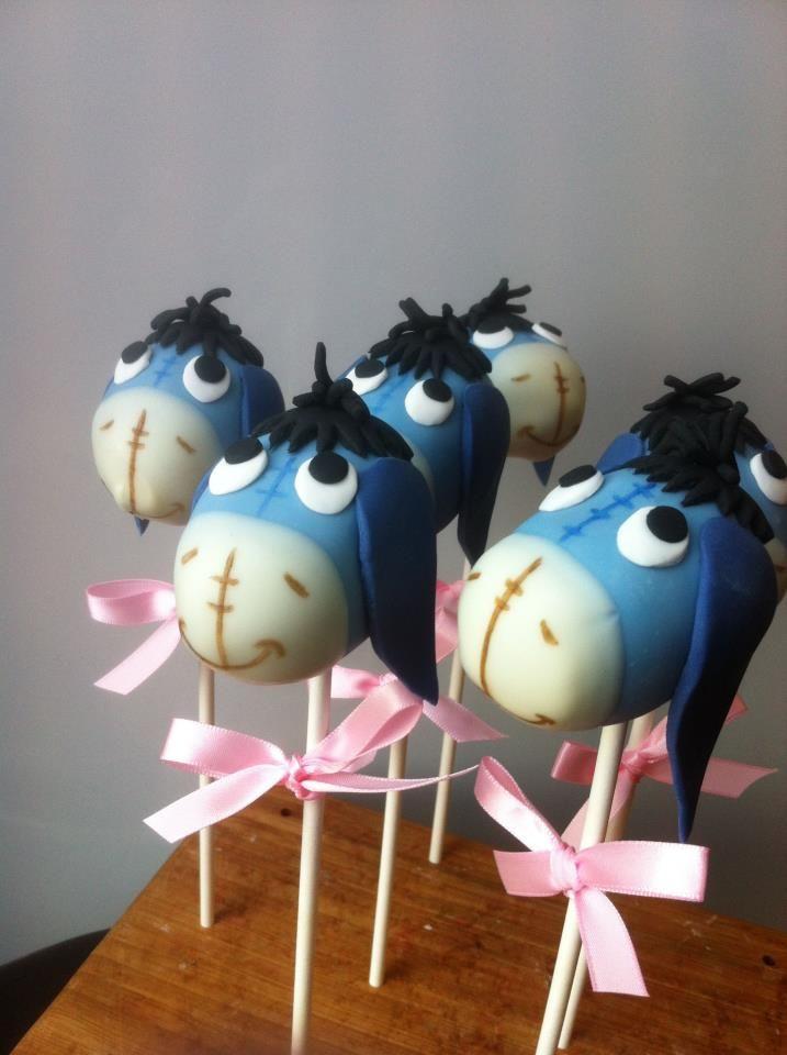 Eeyore cake pops