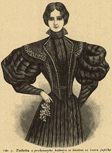 Strój do półżałoby, 1895   Half-mourning outfit, 1895