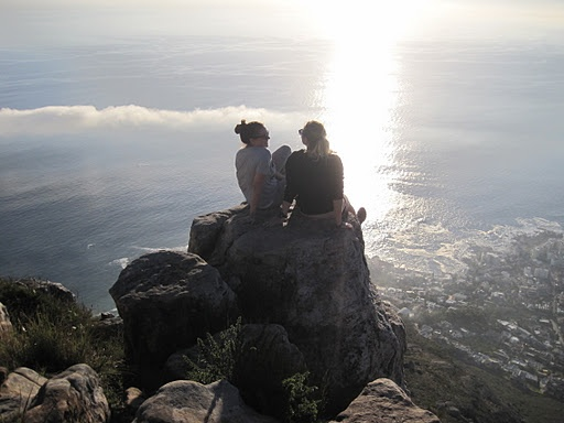 Climbing Lion's Head in South Africa