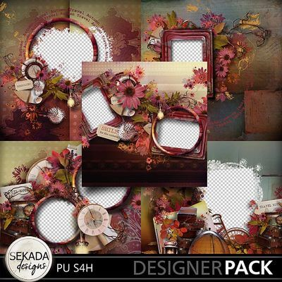 Autumn Memories Quick Pages, a digital scrapbooking kit from MyMemories Digital Scrapbooking.