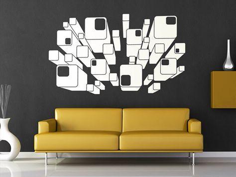 Die besten 25+ 3d wandtattoo Ideen auf Pinterest Wandtattoo - wandtattoo wohnzimmer retro