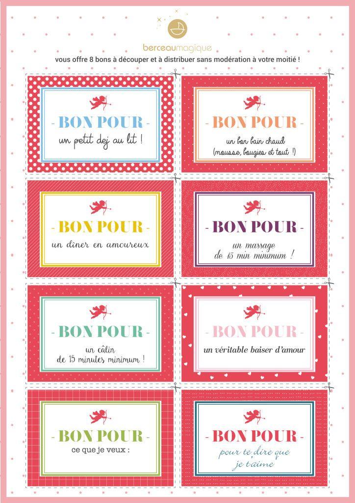 Free printable saint valentin | Berceau Magique