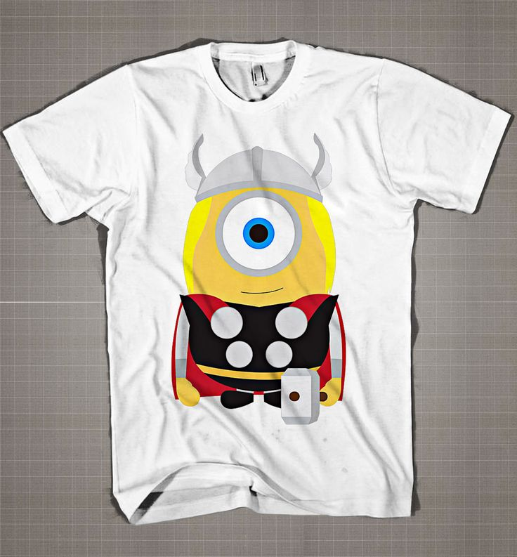 THOR MINION Parody  Mens and Women T-Shirt Available Color Black And White