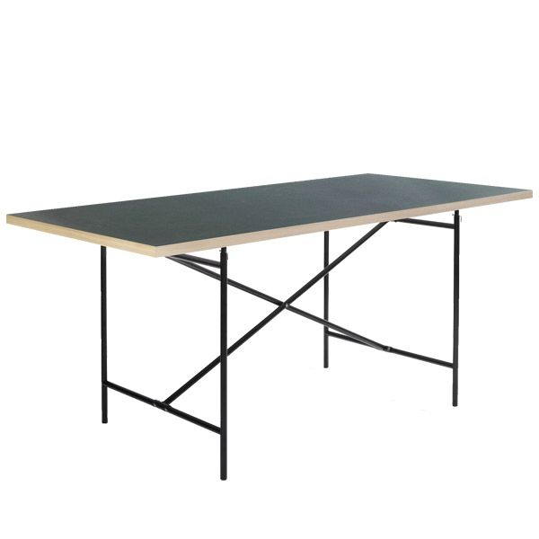 Eiermann2 table, green linoleum, by Richard Lampert.