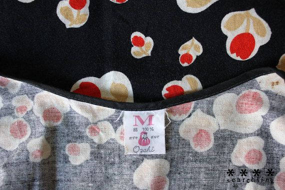 1980's Vintage Japanese floral wraparound by Searchlingstudio