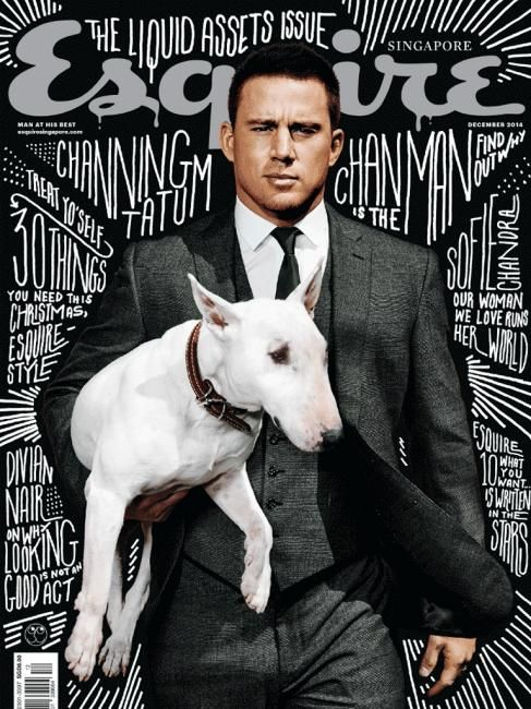 cover design | Esquire (Singapore) #magazine / Channing Tatum #typography