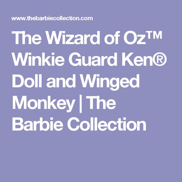 The Wizard of Oz™ Winkie Guard Ken® Doll and Winged Monkey | The Barbie Collection