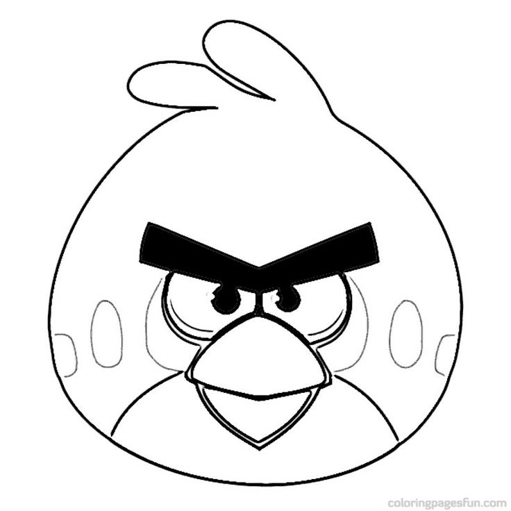 Angry Birds Coloring Pages For Kids Printable #18