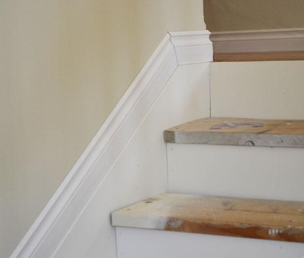 Basement Stair Trim: How To Add Moldings At Stairs