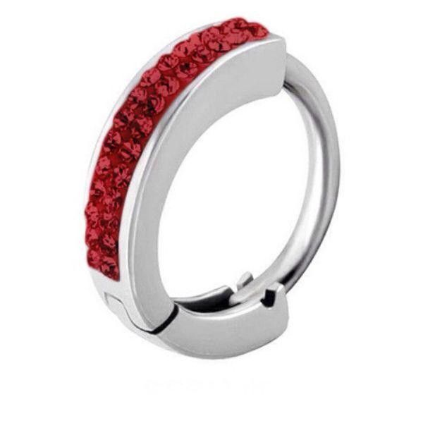 Tiffany Belly Huggie In Red Navel Ring  Snap Lock Belly Button Jewellery - Belly Bars Australia – bellylicious