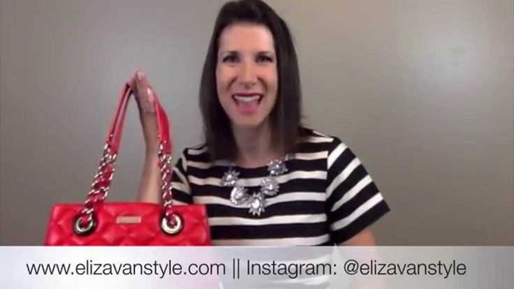 Check out this video as I share my Kate Spade Gold Coast Handbag! www.elizavanstyle.com