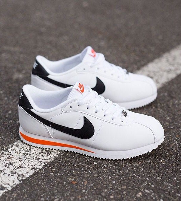 Nike Cortez Leather: White/Black/Red