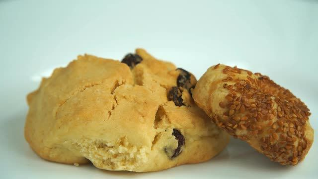 Homemade Raisin Cookies Stock Video Footage - VideoBlocks